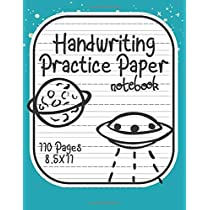 Handwriting Practice Paper: UFO Notebook With Dotted Line Students K-3, 8.5x11 inches, 110 Sheets.
