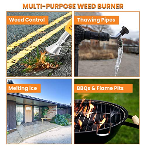 NASUM Electric Thermal Weeder, Weed Burner 1500W Maximum Temperature 650 ° C with 2 Nozzles and 2.0M Cable for Garden