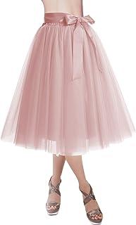 DRESSTELLS Knee Length Tulle Skirt Tutu Skirt Evening...