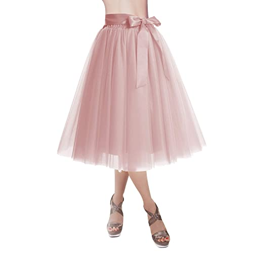 557714b7f5 DRESSTELLS Knee Length Tulle Skirt Tutu Skirt Evening Party Gown Prom  Formal Skirts