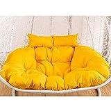 CAIXIN Hanging Egg Chair Cushion,double Wicker Rattan Cushion,hanging Hammock Nest <span class='highlight'>Swing</span> Cushion,<span class='highlight'>seat</span> Cushion Pad <span class='highlight'>Garden</span> Patio Yellow