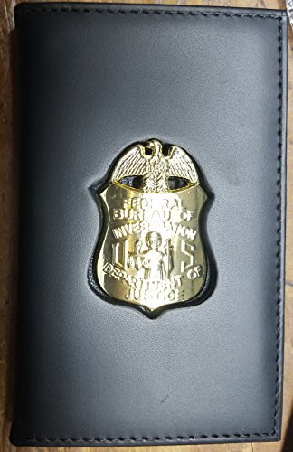 FBI-Style Badge Cut-Out Dual ID Card Wallet (badge/ID not included)