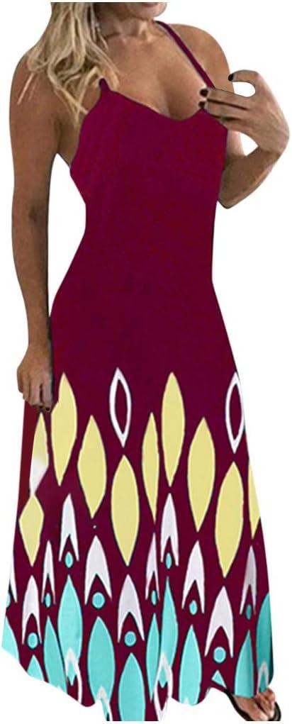 Gwewei4df Women's Plus Size [Alternative dealer] Summer Floral Printed Dress Sleevele Philadelphia Mall