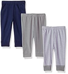 Set include three pants Made with 100% cotton Soft, gentle and comfortable on baby's skin Optimal for everyday use Affordable, high quality value pack