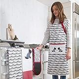 KitchenCraft Westie Anpassbare Originelle Kochschürze, Baumwolle, Gelb/ Grau/ Weiß, 31 x 69 x 89 cm, 1 Einheiten - 2