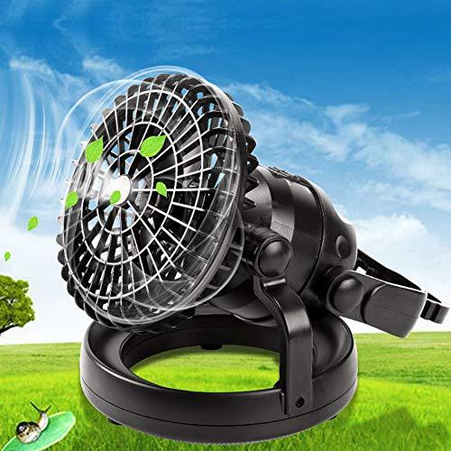 JSX 2-in-1 camping ceiling fan zaklamp, draagbaar, 18 leds, fan camping, lantaarn, werkt op batterijen, USB-oplaadbaar
