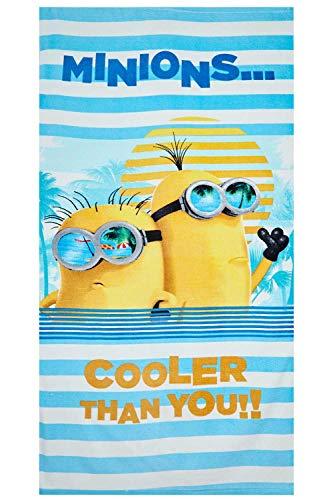 Universal Studios Minions - Toalla de Playa 100% algodón despreciable con Dave y Kevin Cooler Than You, 70x140 cm