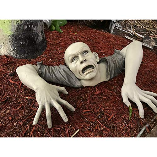 OptiCase The Zombie of Montclaire Moors Garden Statue Halloween Decoration, 31 Inch, Polyresin, Full...