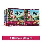 Clif Fruit Smoothie Filled – Bulk Snack Bars - Tart Cherry Berry (6 Packs, 30 Total Snack Bars)