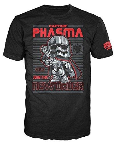 Funko Men's Pop! T-Shirts: Star Wars Ep 7 - Captain Phasma