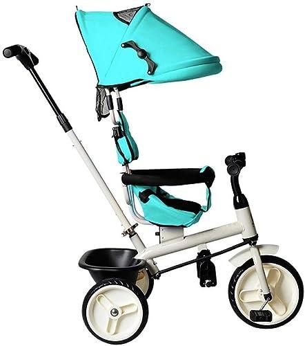 hasta un 60% de descuento Bayche Triciclo al al al Aire Libre for Niños, 1-6 años de Edad, Niño 4 en 1 Triciclo con manija de Empuje, Triciclo de Sombra for Niños, 3 Colors, 94  92  57cm ( Color   verde )  ventas calientes