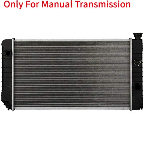 YHA MT Radiator Manual Transmission Assembly without Oil Cooler Compatible with 90-93 S10 Blazer 4.3L 92-94 Jimmy 4.3L 90-91 S15 Jimmy 4.3L 91-93 Sonoma 4.3L V6 CU1060