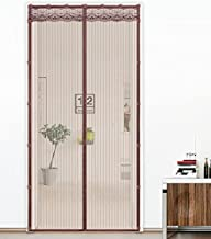 Liveinu Magnetic Screen Door Screen Mesh Curtain with Upgraded Adhesive Clip Install Fits Doors Up to 78 x 94 Inch Fly Mosquito Curtain with Heavy Duty Mesh Brown 46 x 85 Inch