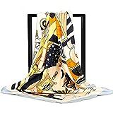 Vellette Sciarpa in Seta da Donna Grande Quadrato Testa Collo Sciarpe Leggero Neckerchief Fazzoletti da testa collo