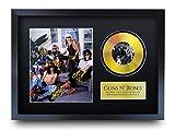 HWC Trading A3 FRI Guns N Roses Axl Rose Barrado El Marco De La Imagen Impresa con Los Regalos De Un Disco De Oro para Los Aficionados Memorias Música - A3 Enmarcada