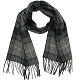Lona Scott Tartanista - Bufandas de tartán escocés - 100% lana de cordero - 152 x 30 cm - Gris Buchanan