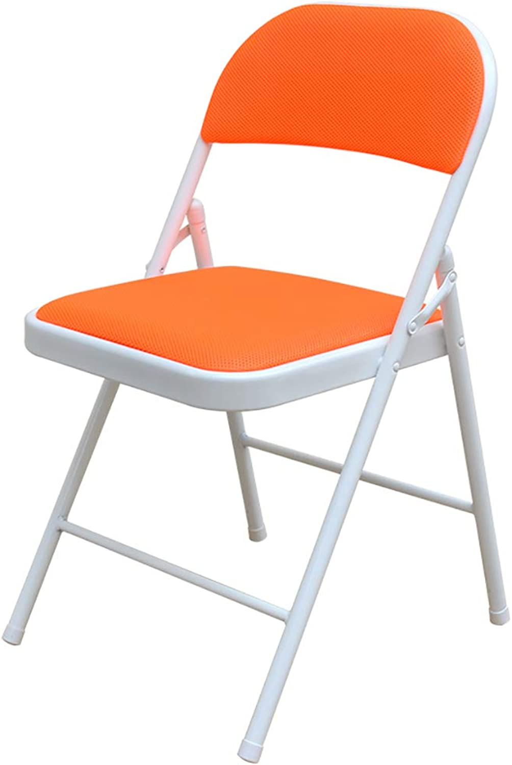 XHLZDY Folding Chair, Office Chair Stool Home Computer Chair Staff Chair Folding Chair (45×46×79cm) (color   orange)