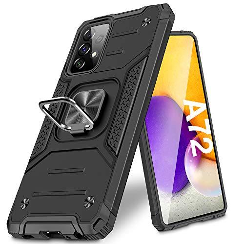 Vakoo Armor Serie Handyhülle für Samsung Galaxy A72 Hülle, Schwarz