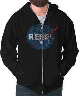 Rebel Space Nerd Movie Galaxy Sci-Fi Geek Zip Hoodie