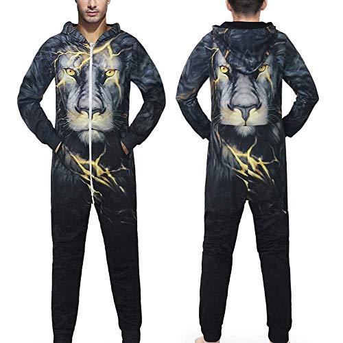 Sweatshirt Herren,SANFASHION Männer Kapuzenpullover Familie 3D Printed Jumpsuit - 3