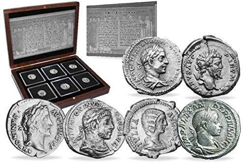 IMPACTO COLECCIONABLES ANTIKE Münzen - 6 Silberne Denare aus dem Rmischen Reich - 6 Kaiser
