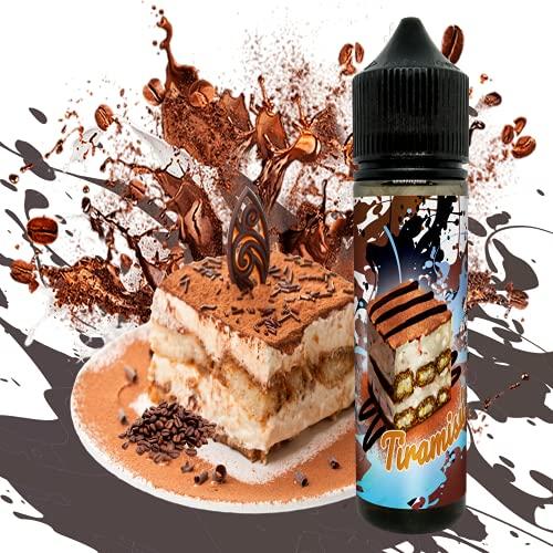 E-Liquid TIRAMISU de TIGERFLOYD- Sin Nicotina - 60ml formato TPD - 0MG Nicotina - E-Liquido para Cigarrillos Electronicos - E Liquidos para Vaper