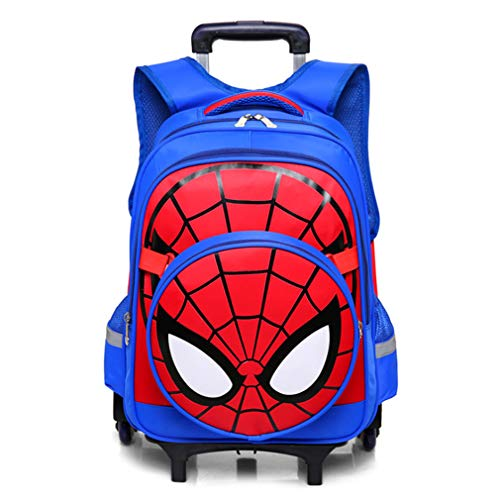 Spiderman Six wheels Trolley case School Bags Boy Oxford cloth Vacation backpackSpiderman Six Wheels Trolley Case School Bags Boy Oxford Cloth Vacation Backpack
