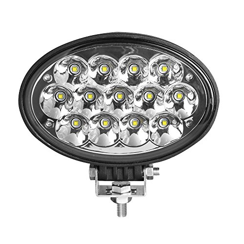 Primelux Waterproof Oval LED Work Light 65W High Power Working Lamps for Agricultural Tractors Heavy Duty Vehicles Construction Machines 5850LMS Spot Light, 6.5inch, 12/24V Led Work Light (Spot/6.5)