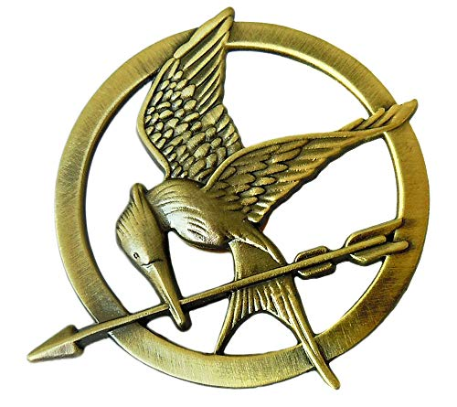 The Hunger Games Katniss Everdeen Cosplay Prop Mockingjay Pin Brooch Badge Copper
