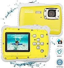$47 » BYbrutek Kids Camera, 12MP HD Children Underwater 3M Waterproof Action Camera Camcorder, 2-Inch LCD, 4X Digital Zoom, 5 MP CMOS Digital Camera (Yellow)