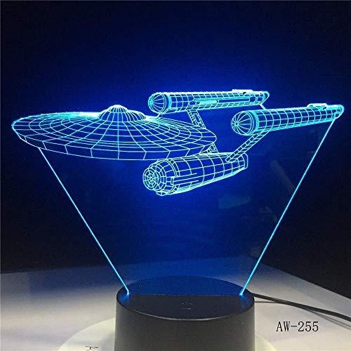 Afbeelding LED nachtlampje lamp ruimteschip kleurrijke USB LED acryl verlichting Action Figure Touch