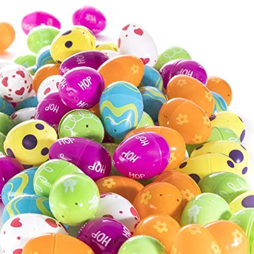 Prextex 100 Uova di Pasqua Colorate da Riempire Uova di Pasqua Caccia all'Uovo Uova Riempibili