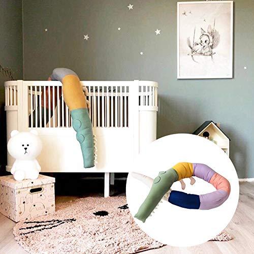 Dadahuam Kinderbett Stoßstange, Kinderbett Nestchenschlange Stoßstang Komfortkissen für Kinder Baby Zaun Raumdekoration Spielzeug Bettpuffer für Kleinkinder, 185cm Unusual
