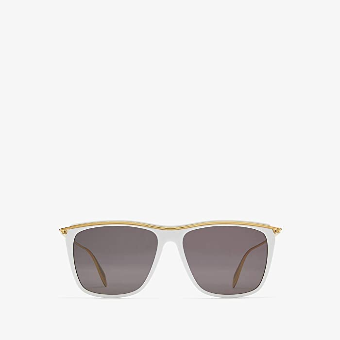 Alexander McQueen  AM0143S (White) Fashion Sunglasses