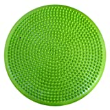 AppleRound Air Stability Wobble Cushion with Pump, 34cm/13.5in Diameter, Balance Disc, Sensory Wiggle Seat (Green)