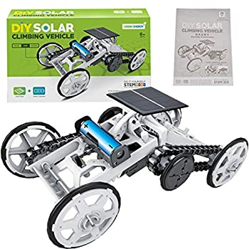 Alphabet Robot STEM 4WD Car DIY Climbing Vehicle Motor Car Educational Solar Powered Car Engineering Car for Kids Solar Circuit Building Projects Science Experiment,BuildingToys for Kids Teens
