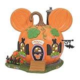 Department 56 Disney Village Halloween Mickey Mouse Pumpkintown House Lit Building, 5.83 Inch, Multicolor