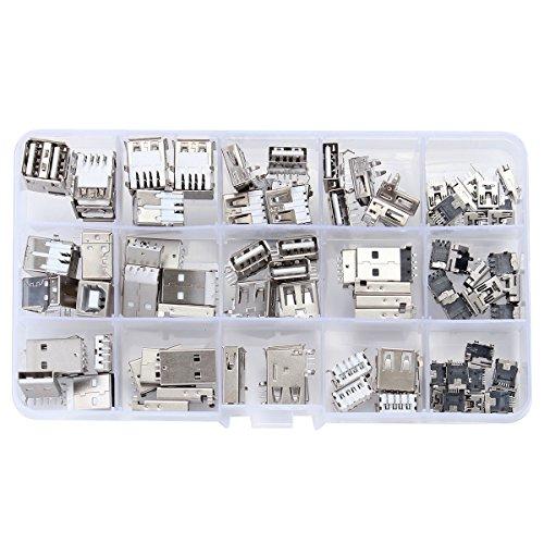 Bluelover 14 Styles USB Männlich Weiblich Mini SMD Vertikal Socket Connector Für DIY