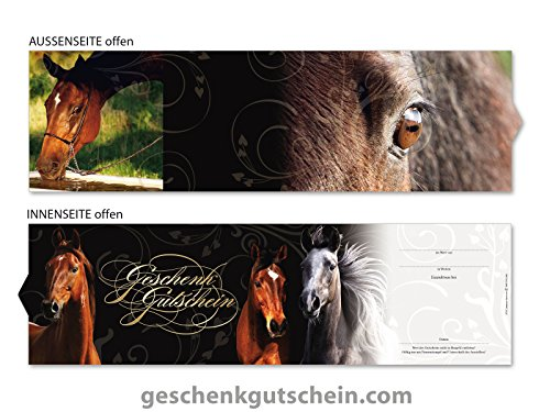 10 Stk. Premium Booklet Gutscheine für Reitsport, Reitsportbedarf, Pferdesport SP707, LIEFERZEIT 2 bis 4 Werktage !