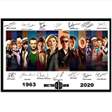 PDFKE Doctor Who Signed Print Dr. Who Alle 14 Ärzte Art