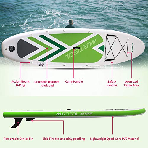 Product Image 2: Murtisol Inflatable Paddle Board Stand Up Paddle Green