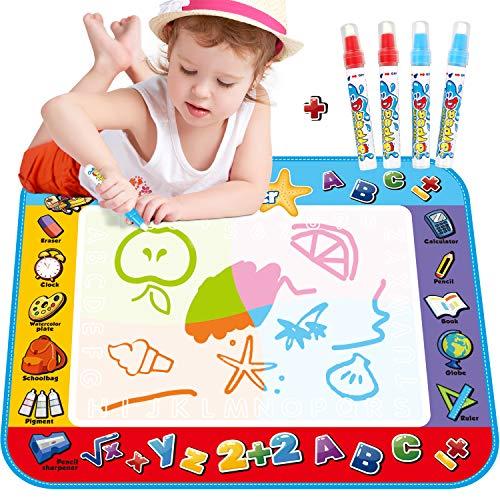 KEDIOR Aquadoodle,Tapis Dessin Eau Doodle Magic pour Les Enfants(100*80CM)