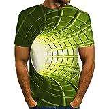 XDJSD Camiseta con Estampado De Hombre Camiseta con Cuello...