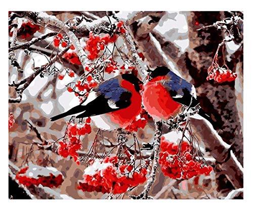 ysldtty Rompecabezas 1000 Piezas Red Tree Bird Animal Modern Art Unique Giftpuzzles Juguetes para Adultos Niños Puzzle Patrón De Regalo Juguetes Educativos