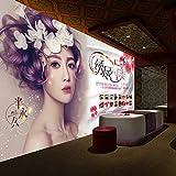Salón de belleza Imagen de escritorio Imagen de fondo Fondo Decoración de pared Papel pintado Maquillaje Decoración de salón de uñas 3D Estéreo Mural-250Cmx175Cm