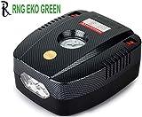 RNG EKO GREEN - Portable Tyre Inflator for Car/Bike 12V/160PSI Air Compressor