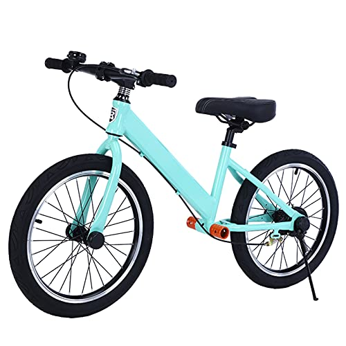 Bicicletas sin Pedales 18 Pulgadas Bicicleta de Equilibrio para Niños de 7 a 8 Años, Bicicleta de Empuje Ligera para Niños Pequeños con Reposapiés y Manillar, Regalo de Cumpleaños (Color : Blue)