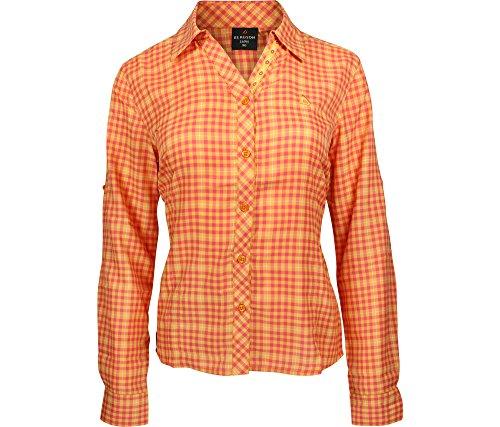 Bergson dames functionele blouse Rosali – sneldrogend, ademend, onderhoudsarm, vrouwelijke snit, zonwering kraag, Silverplus uitrusting