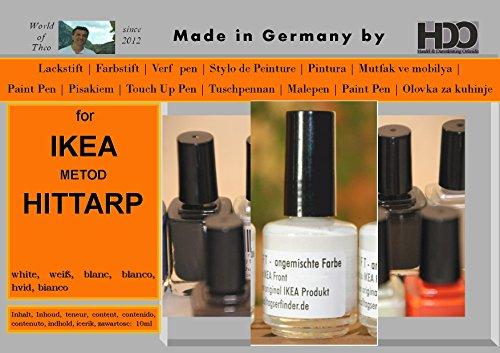 Farbstift Lackstift Touch-Up-Pen for IKEA HITTARP white