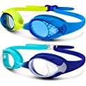 2-Pack OutdoorMaster Kids Quick Adjustable Strap Swimming Goggles